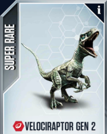 Velociraptor Gen 2 Jurassic World The Mobile Game Wikia Fandom