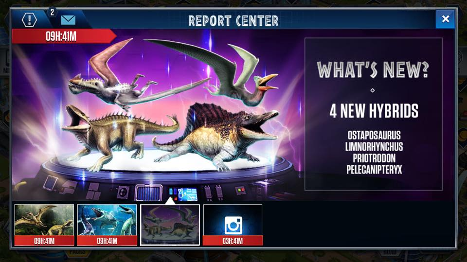 Report Center Jurassic World The Mobile Game Wikia Fandom
