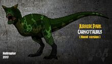 Jp the lost world novel carnotaurus new art by hellraptor-d9uh3zx