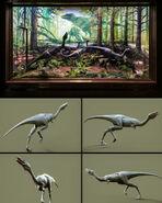 Mononykus diorama