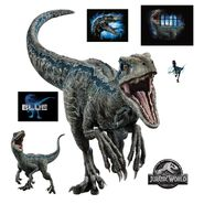 1109-00047 nba ini jurassic world 2 blue raptor realbig rm40 pdp