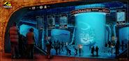 1200x574 2019 Jurassic Park Aquarium 2d illustration aquarium jurassic park fantasy picture image digital art