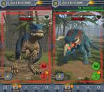 JW- Facts App Battle at Big Rock Allosaurus and Nasutoceratops models