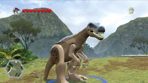 LEGO Jurassic World - Baryonyx Free Roam Gameplay HD