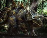 Stegoceratops baby and adult