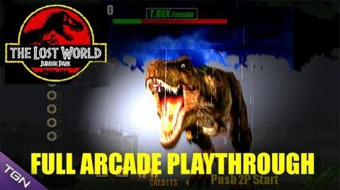 The Lost World Jurassic Park Arcade Game - Full Playthrough (Sega Arcade Classic)
