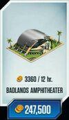 Badlands-amphitheater