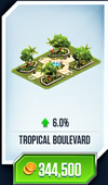 Tropical Boulevard Card