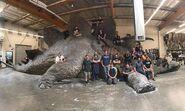 Big stegosaurs prop