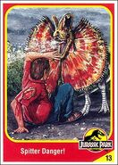 Dilophosarus collector card