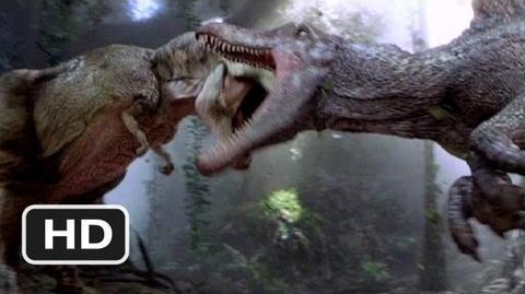 Video Jurassic Park 3 10 Movie Clip Spinosaurus Vs T Rex 2001