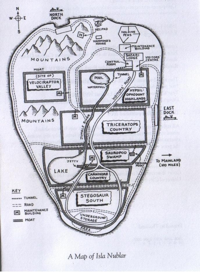 Park map jurassic park wiki fandom powered by wikia north dock malvernweather Image collections