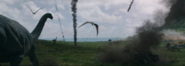 Gallimimus Duo near Cliff