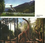 Thee lost world para concept art and brachosaurus renders