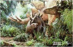 Stegosaurus mum and baby