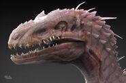 Sickly-White-Indoraptor-2-Close