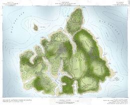 Isla Sorna - Topographical Map