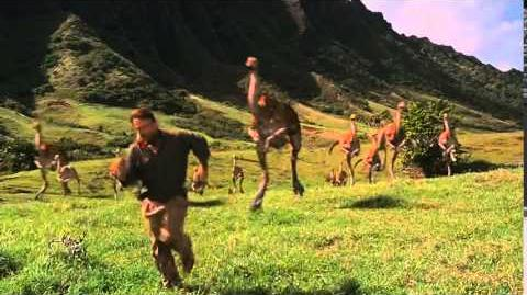 Jurassic Park Gallimimus chase scene