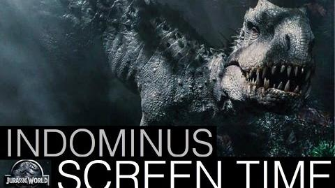 Jurassic World- Indominus Rex Screen Time (All Scenes)