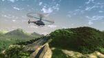 Longranger flying over jurassic world