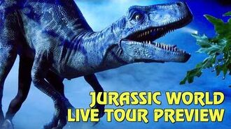 Preview of Jurassic World Live Tour