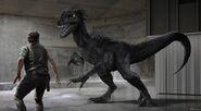 Indoraptor concept art 19; Indoraptor vs Owen