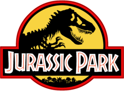 Jurassic Park Logo Black Yellow Red