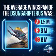Dsungaripterus Wingspan Quiz