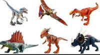 Mattel Blue, Unidentified Pterosaur (Tapejara?), Monolophosaurus, Dimetrodon, Stygimoloch and Styracosaurus