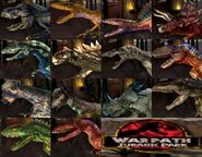 Jurassic park warpath characters by mnstrfrc-dcboh35
