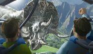 JW Triceratops Gyrosphere Concept Art