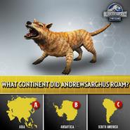Andrewsarchus Habitat Quiz