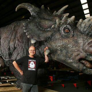 Statues de <i>Pachyrhinosaurus</i> à <i>Jurassic World L'Exposition</i>