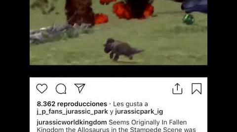 Escena Eliminada de Jurassic World Fallen Kingdom Allosaurus vs Triceratops
