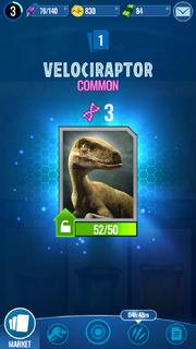 Velociraptor Unlock