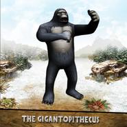 Gigantopithecus pounding its chest