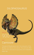 Dilophosaurus render on Jurassic World website