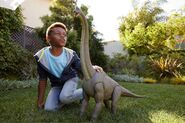 Mattel Jurassic World Legacy Collection Brachiosaurus with child for scale