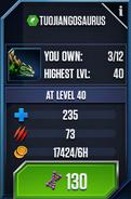 Tuojiangosaurus Max Stats