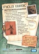 2001 Jurassic Park III 3-D 68 Muttaburrasaurus back