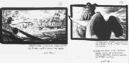 Hadrosaurus Stampede Storyboard by Phil Tippett