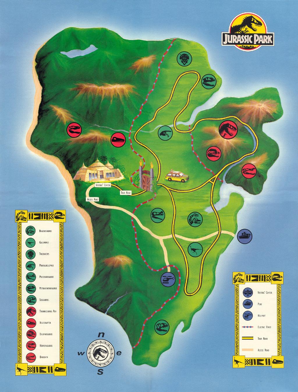 Map Of Jurassic Park Park Map | Jurassic Park wiki | FANDOM powered by Wikia