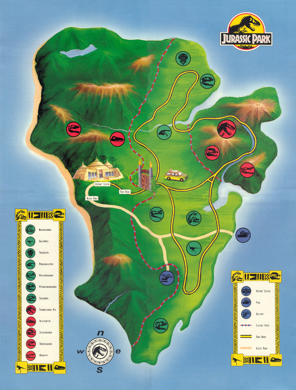 Park map jurassic park wiki fandom powered by wikia jptourmap2 gumiabroncs Images