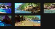 Camp Cretaceous Beach Concept Art