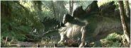 Stegosaurus walking
