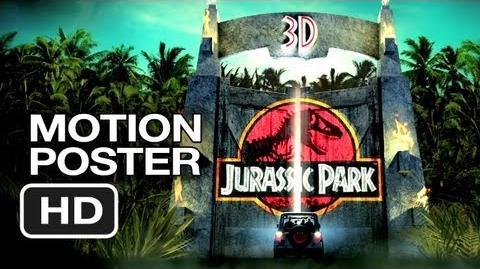 Jurassic Park 3D Motion Poster (2013) - Steven Spielberg Movie HD