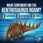 Kentrosaurus Continent Quiz