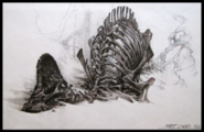 The lost world corythosaurus carcess concept art