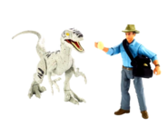 Jurassic World Mattel Alan Grant and JPIIIFemale Velociraptor