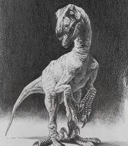 Jurassic park concept art deinonychus raptor by indominusrex-dbp2z14